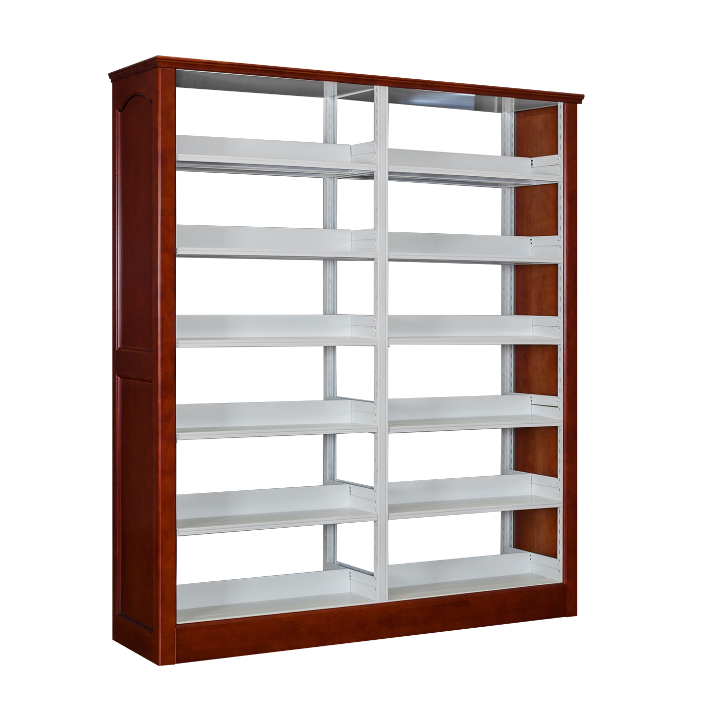 GF-016 橡木护板双柱双面书架