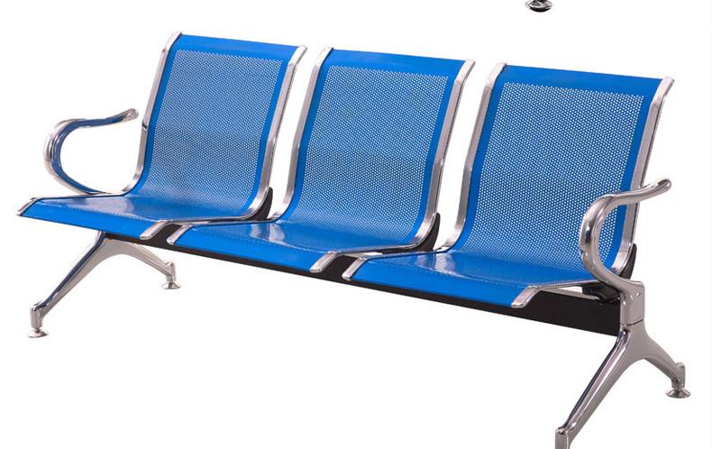 固峰蓝色三人等候椅